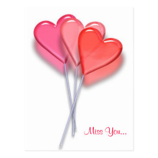 Coeurs de lucette carte postale