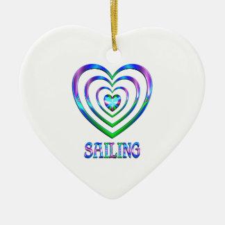 Coeurs de navigation ornement cœur en céramique