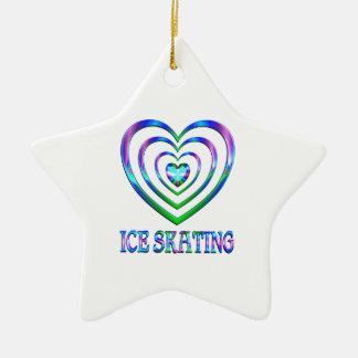 Coeurs de patinage de glace ornement étoile en céramique