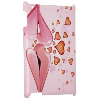 coeurs de rose de baiser d'amour étui iPad
