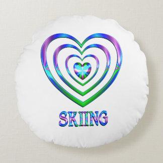 Coeurs de ski coussins ronds