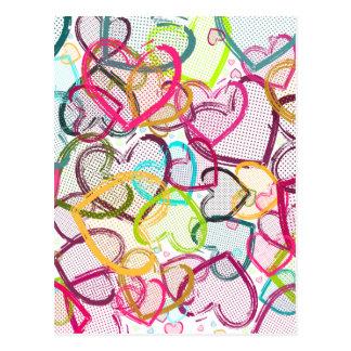 Coeurs de sucrerie carte postale