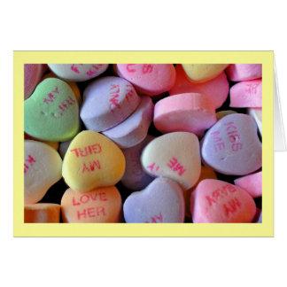 Coeurs de sucrerie pour la Saint-Valentin #2 Cartes