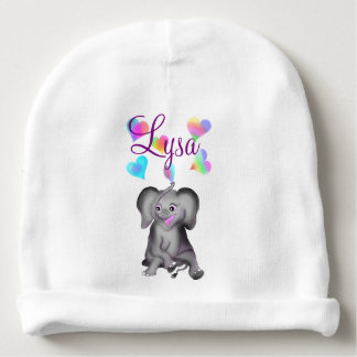 Coeurs d'éléphant par Happy Juul Company Bonnet De Bébé