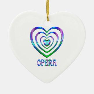 Coeurs d'opéra ornement cœur en céramique