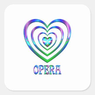 Coeurs d'opéra sticker carré