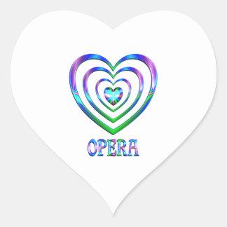 Coeurs d'opéra sticker cœur