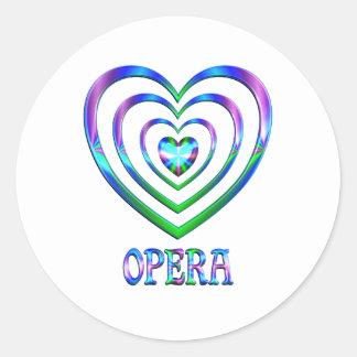 Coeurs d'opéra sticker rond