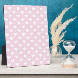 Coeurs en pastel de Valentine Photo Sur Plaque