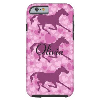 coeurs et chevaux coque iPhone 6 tough