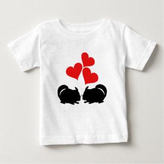 Coeurs et chinchillas t-shirt pour bébé