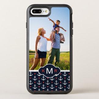 Coeurs et motif | d'ancres votre photo et coque otterbox symmetry pour iPhone 7 plus