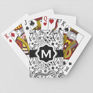 Coeurs et motif personnalisés à la mode de cartes à jouer