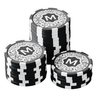 Coeurs et motif personnalisés à la mode de rouleau de jetons de poker