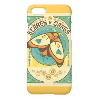 Coeurs et or de coque iphone de logo de dards