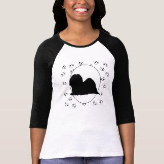 Coeurs et Pawprints de Lhasa Apso T-shirt