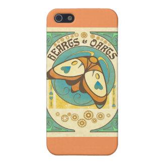 Coeurs et pêche de coque iphone de logo de dards étuis iPhone 5