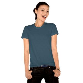 Coeurs et pièce en t Teal de mite de Nouveau d'art T-shirt