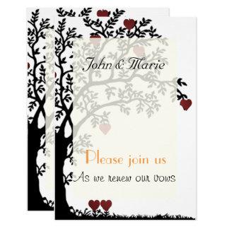 Coeurs et renouvellement de voeux de mariage carton d'invitation 8,89 cm x 12,70 cm