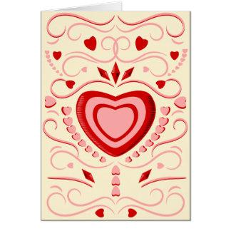 Coeurs et rouleaux de sucrerie cartes