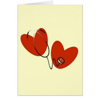 Coeurs et T-shirts et cadeaux de stéthoscope Cartes