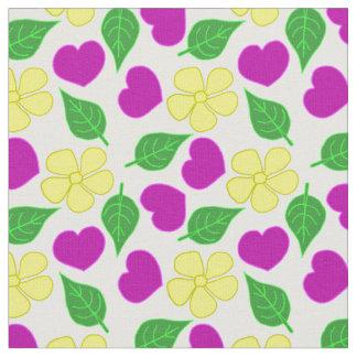 Coeurs et tissu de fleurs
