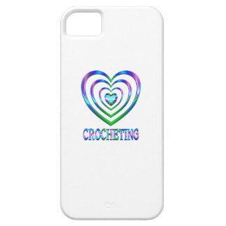 Coeurs faisants du crochet coque iPhone 5