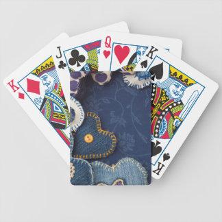 coeurs faits de jeans jeu de cartes