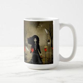 Coeurs foncés de tasse de Steampunk Valentine sur