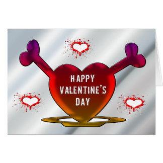 Coeurs grunges carte de vœux