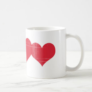 Coeurs grunges simples tasse
