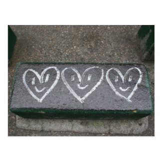 Coeurs heureux carte postale