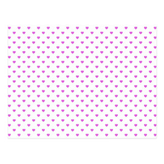 Coeurs lilas de Polkadot de sucrerie sur le blanc Cartes Postales