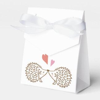 Coeurs mignons de hérissons de ballotin de mariage boite faveurs de mariage