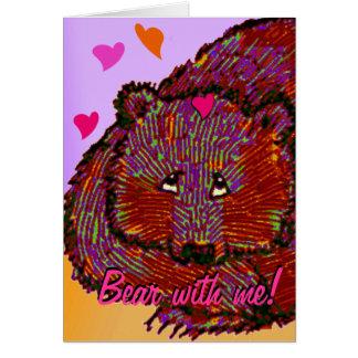 Coeurs mignons de Saint-Valentin de St, ours avec Carte De Vœux