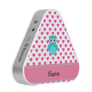 Coeurs mignons nommés personnalisés de rose de haut-parleur bluetooth