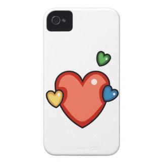 Coeurs multicolores coque iPhone 4 Case-Mate