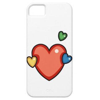 Coeurs multicolores coques iPhone 5