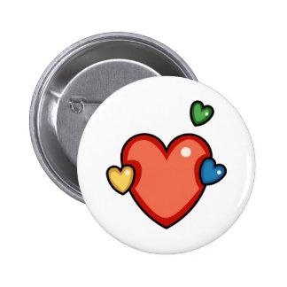 Coeurs multicolores pin's