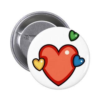 Coeurs multicolores pin's avec agrafe