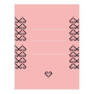 Coeurs ornementaux de mariage. Conception Carte Postale