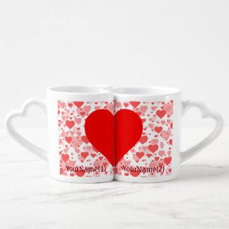 Coeurs personnalisés des coeurs pour des amants mug