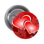 Coeurs pour l'amour badge rond 5 cm