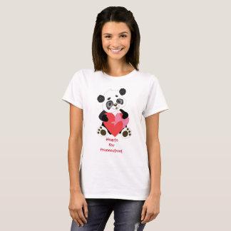 Coeurs pour l'ours panda de Homeschool T-shirt