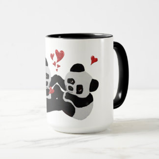 Coeurs précieux de panda tasse