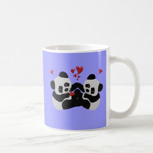Coeurs précieux de panda mugs