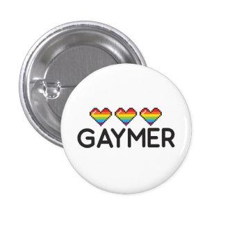Coeurs ringards drôles de fierté de Gaymer LGBT Badge