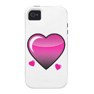 Coeurs roses coque iPhone 4 de Case-Mate
