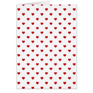 Coeurs rouges de point de polka de sucrerie de cartes