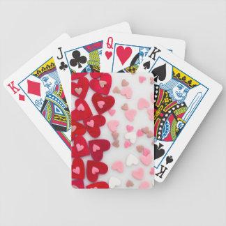 coeurs rouges jeu de cartes
